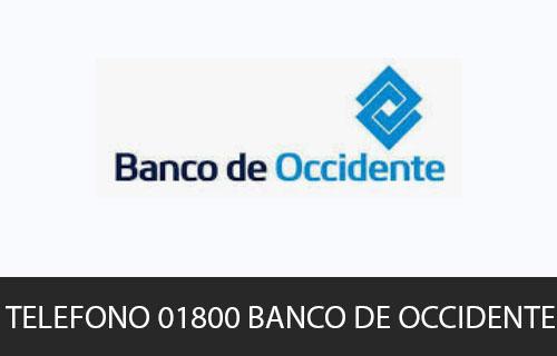 Teléfono de Servicio al cliente Banco de Occidente